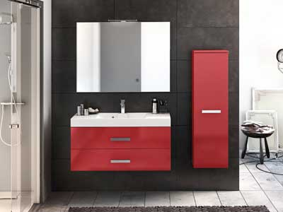 un meuble lavabo gain de place. Black Bedroom Furniture Sets. Home Design Ideas